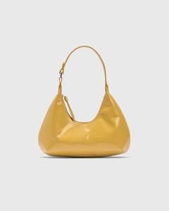 Baby Amber Yellow Semi Patent Leather Bag