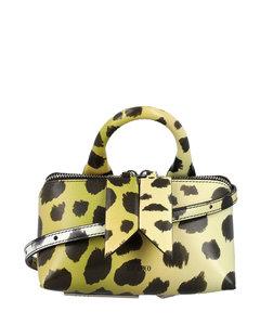 Women's Leather Mini Kensington Stud Bag - Black
