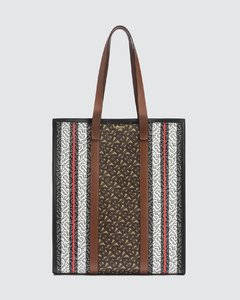 Monogram Stripe Book Tote