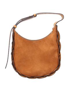 Shoulderbag DARRYL Suede brown