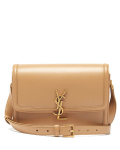 Solferino YSL-plaque leather shoulder bag