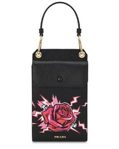 Saffiano rose patch mini bag