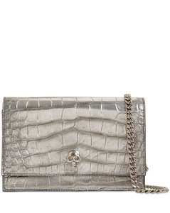 Croc Embossed Leather Bag