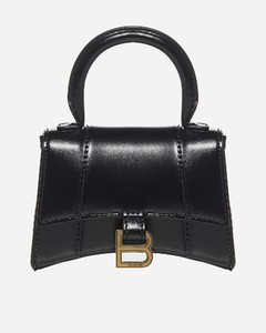 Hourglass mini leather bag