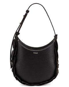 Chloe Small Darryl Leather Bag in Black