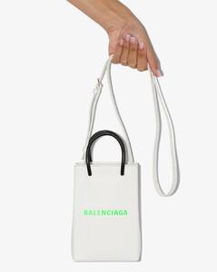white Shopping phone holder bag