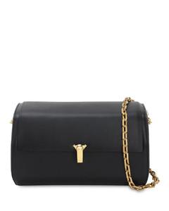 Po B Trunk Leather Shoulder Bag