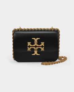 Eleanor Small Convertible Shoulder Bag in Black Leather