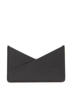 Slim saffiano leather credit card case