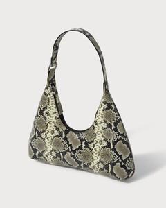 Amber Snake-Print Leather Bag