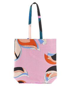 Embellished nylon shoulder bag