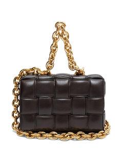The Chain Cassette Intrecciato-leather bag