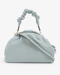 Demi ruched leather shoulder bag