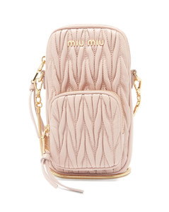 Mini quilted-leather cross-body phone bag