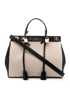 Beige Medium Bow Bag