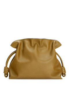 Leather Flamenco Clutch Bag