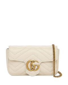 Super Mini Gg Marmont Leather Bag