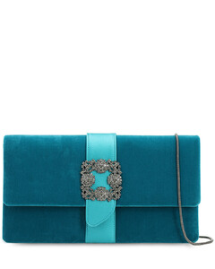 Capri Embellished Velvet & Satin Clutch