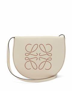 Heel mini leather cross-body bag