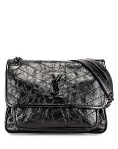 Medium Niki Chain Shoulder Bag in Black