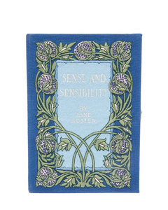 Sense and Sensibility embroidered book clutch