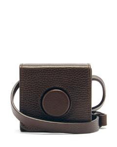 Camera mini grained-leather cross-body bag