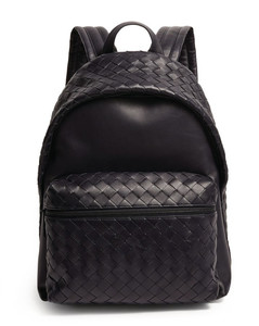 Leather Intrecciato Backpack