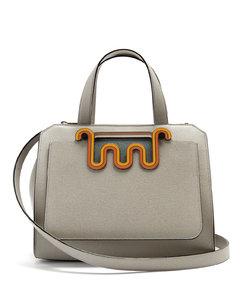 Passepartout medium leather bag