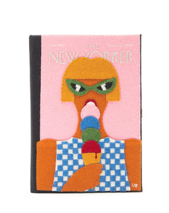 The New Yorker embroidered book clutch