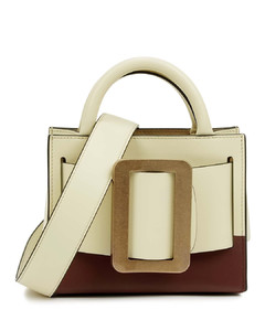 Bobby 18 two-tone leather top handle bag