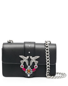 Black Leather Bbuzz Circle 21 Top Handle Bag