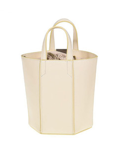 leather bag with metallic Binder clip