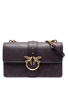 Mini crocodile-effect leather bag