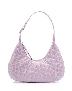 mini Amber crocodile-embossed shoulder bag