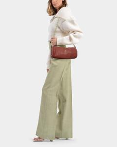 Shoulder Bag Cylinder In Redbole Leather
