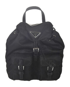 Logo Buckled Chain Strap Backpack