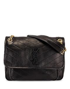 Medium Niki Chain Bag in Black