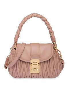 Matelassétop-handle bag