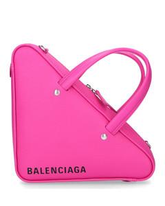 Handbag DUFFLE XS leather logo pink