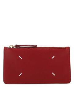 Women's CNY Canvas Signature Gusset Beat Shoulder Bag 18 - Tan Electric Red Multi