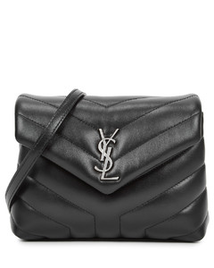 Loulou Toy black leather cross-body bag