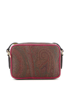 shoulder bag in textured synthetic leather