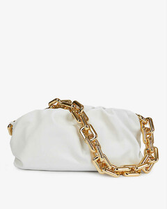 The Chain Pouch medium leather clutch bag