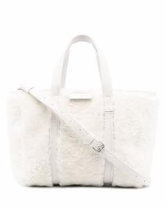 WOMEN'S 742736 WHITE LEATHER SHOULDER BAG