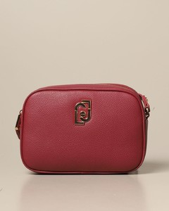 shoulder bag in synthetic leather with logo