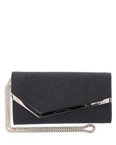 Shoulder bag EMMIE leather black glitter