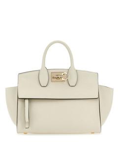 neutral Pelltria leather chain wallet mini bag