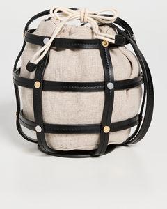 Simone leather clutch