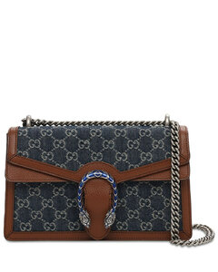 Dionysus Denim Gg & Leather Shoulder Bag