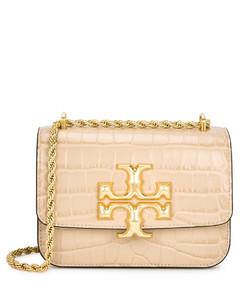 Eleanor small crocodile-effect leather shoulder bag